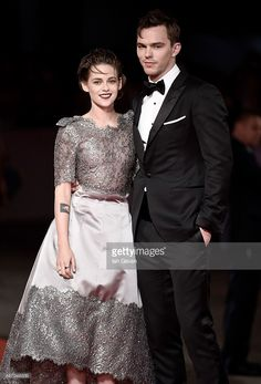 Kristen Stewart and Nicholas Hoult attend the premiere of 'Equals' during the 72nd Venice Film Festival at the Sala Grande on September 5, 2015 in Venice, Italy.