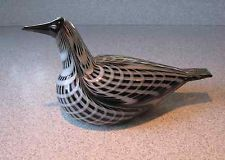 "Iittala OIVA TOIKKA Art Glass Bird - Extremely rare ""Color Experiment"" Diver"