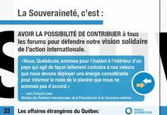 Le saviez-vous?  À Haïti, au Maghreb, en Afrique sub-saharienne, les Québécois de 65 organisations de coopération humanitaire membres de l' Association Québécoise des Organismes de Coopération Internationale (AQOCI) aident des populations locales à devenir plus autonomes, sur tous les plans.