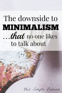 This helped me see minimalism from another perspective.