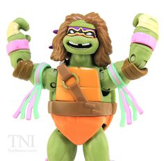 TMNT WWE Donatello as The Ultimate Warrior Superstars Turtles Figure Video Review & Image Gallery