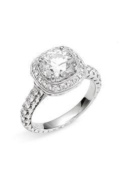 Women's Jack Kelege 'Romance' Cushion Set Diamond Semi