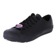 Skechers Womens Leather Anti-Slip Sneakers Gibson-Hardwood   The Shoe Link