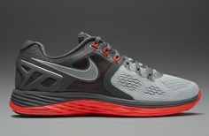 Nike Lunareclipse 4 - Mens Running Shoes - Base Grey-Reflective Silver-Dark Base Grey-L