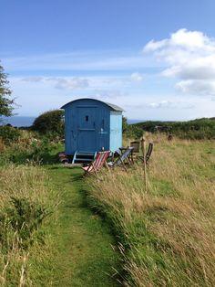 Shepherds hut - St Ives, Cornwall Shepherds Hut, St Ives, Cornwall, Saints, Shed, Outdoor Structures, Cool Stuff, Barns, Sheds