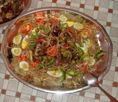 Thiebou yap bou wekh: literally white rice  with meat, traditionally served during baptisms or weddings.