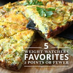 Try these five recipes that clock in at fewer than 5 points each, all packed with nutritious, clean eating ingredients that will keep you sustained and feeling great as you lose weight!  #weightloss #recipefavorites #weightwatchers