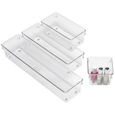 These are great for drawer organizing in your bathroom, kitchen or office.