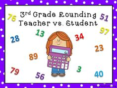 Here's a rounding powerpoint game to help assess students. This game pits students against the teacher. Students win points for correct answers and the teacher gets points for incorrect answers. There are 25 questions in all. . Students are to round numbers . Tons of fun for your class!