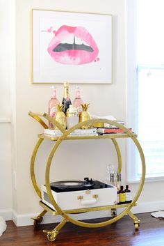Holiday Bar Cart | Chronicles of Frivolity