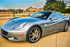 Ferrari California on the ranch! Hit the image to see more stunning Ferrari's.