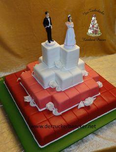 Hochzeitstorte Cake, Desserts, Food, Wedding Cakes, Sugar, Pies, Tailgate Desserts, Deserts, Kuchen