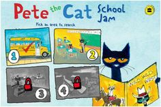 Pete the Cat: School Jam app #preschool #kindergarten