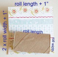 toilet paper roll mini album