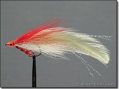 Red-White Deceiver - Fly | Large  Pike love red and white lures!