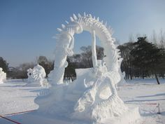 Majestic Sculptures From The Harbin International Ice And Snow Festival, Heilongjiang, China