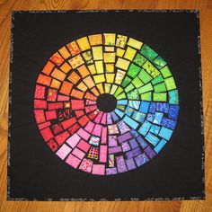 Finished ticker tape color wheel by FlossieBlossoms, via Flickr