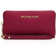Michael Michael Kors Jet Set Large Flat Multi-Function Smartphone... ($115) ❤ liked on Polyvore featuring accessories, tech accessories, smart phone wristlet, michael michael kors wristlet, smartphone wristlet, michael michael kors and wristlet smartphone