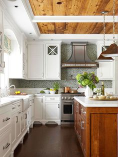 White can work for every design aesthetic. In a traditional kitchen, white can bring together the old and the new by combining beautiful finishes with homey authenticity: http://www.bhg.com/kitchen/color-schemes/neutrals/white-kitchens-we-love/?socsrc=bhgpin052614cozywhitekitchen&page=8