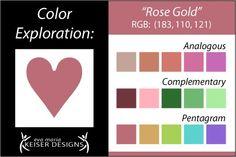 ❤ =^..^= ❤ Eva Maria Keiser Designs: Explore Color:  Rose Gold
