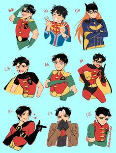 batman doesn't do ships Batman Y Superman, Son Of Batman, Superman Family, Marvel Avengers Assemble, Marvel Vs, Tim Drake, Nightwing, Batgirl, Robins