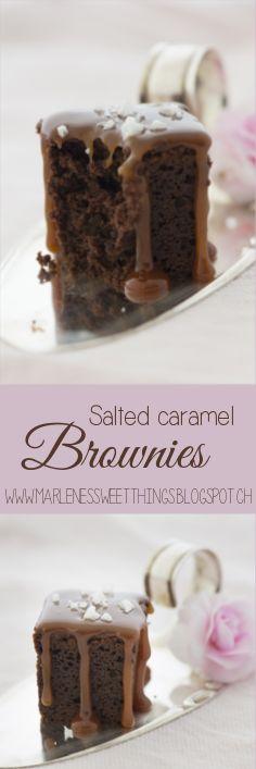 Salted caramel brownies - Brownies mit Meersalz Karamellsauce