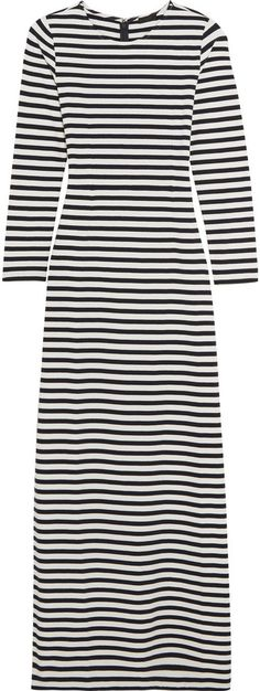 J.Crew Striped cotton-jersey maxi dress