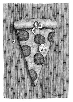 A sample of what will be on site at #EtsyFest15 on Saturday, April 25 in Hillcrest! @Etsy #etsy #etsylr #handmade #shoplocal #livelocal Pizza Dreams by SallyNixonArt on Etsy