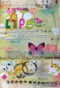 lovely way to add scripture to art pages //  by glenda tkalac