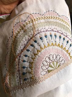 Cushion Embroidery, Hand Embroidery Dress, Embroidery On Clothes, Embroidery Works, Creative Embroidery, Learn Embroidery, Beaded Embroidery, Border Embroidery Designs, Basic Embroidery Stitches