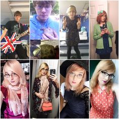 Valerie - Young Transitioner - Pre-Transition 2015 to 2 years HRT 2017.