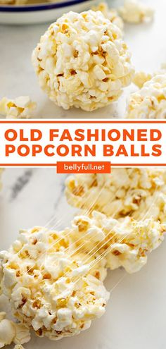 Old Fashioned Popcorn Balls from your childhood! This classic recipe is easy, sticky sweet, delicious, and timeless. Great for a party, holiday, or any occasion. Loved by kids and adults alike!