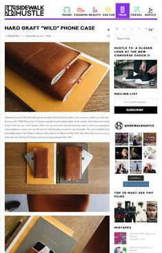 "Known as the ""Wild Phone Case,"" it features vegetable tanned Italian leather on the outside, with Italian wool on the inside. It also has two 'secret' pockets where you can store your cash and numerous cards, as well as an opening for your headphones cord so you can still rock out while keeping your phone safe and stylish"