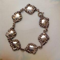 Vintage Sterling Silver Bracelet by FancyThatBlingCo on Etsy