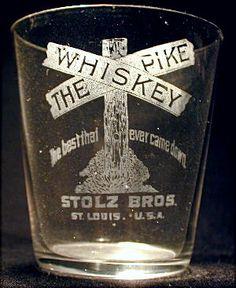 vintage whiskey glass
