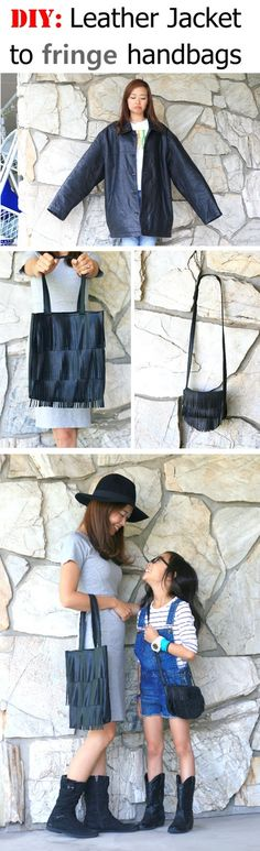 Leather jacket to fringe tote bags