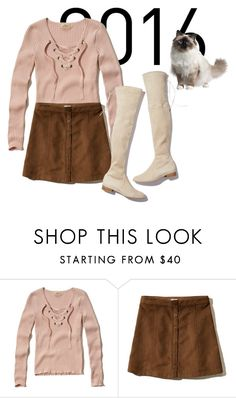 """""""Best Trends 2016 #1"""" by hideous ❤ liked on Polyvore featuring Hollister Co., Stuart Weitzman, CO, neutral, THIGHHIGHBOOTS, 2016, laceuptops and bestrends"""