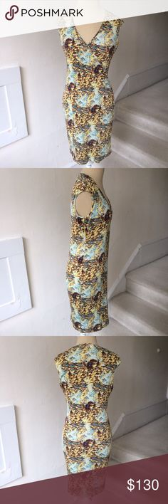 "Equipment V-Neck 100% Printed Dress EUC Excellent used condition v-Neck 100% silk dress from Equipment. Worn once. Beautiful print throughout. Approximately 34"" in length. A31. Equipment Dresses"