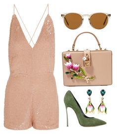 Spring by carolineas on Polyvore featuring polyvore, fashion, style, Valentino, Casadei, Dolce&Gabbana, Oliver Peoples and clothing