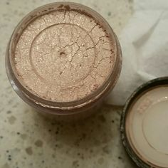 Authentic MAC pigment in Naked Gorgeous all over color. Naked color with slight sparkle full size MAC Cosmetics Makeup Eyeshadow