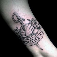 Bro Tattoos, Brother Tattoos, Sibling Tattoos, Best Sleeve Tattoos, Friend Tattoos, Hand Tattoos, Tattoos For Brothers, Small Tattoos Men, Meaningful Tattoos For Men