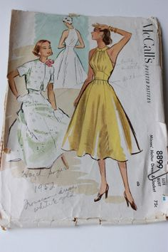 Vintage 1950s Halter Dress with Bolero Jacket by schatzlivintage, $8.00