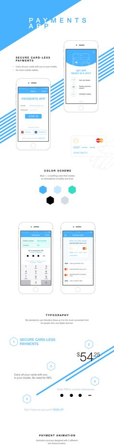 Mobile payment app with secure card-less payments:— carry all your cards with you in your mobile. No need for NFC— industry's leading security standards for your payments— no more mobile wallets