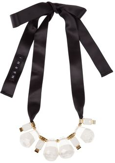 Marni Ribbon Tie Necklace - Lyst