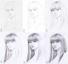 Let's learn how to draw hair step by step image guides . You not only need to concentrate on the details but also work at adding depth to the drawing. to drawing hair How To Draw Hair (Step By Step Image Guides) Pencil Art Drawings, Realistic Drawings, Love Drawings, Easy Drawings, Drawing Sketches, Sketching, Drawing Faces, Drawing Tips, Figure Drawing