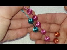 Tatting Jewelry, Thread Jewellery, Beaded Jewelry, Beaded Flowers, Crochet Flowers, Baby Knitting Patterns, Crochet Patterns, Saree Tassels Designs, Hand Embroidery Videos