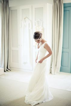 Elena con vestido de novia de Cortana  #weddingdresses #bride #spain