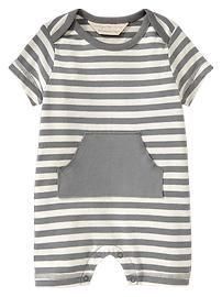 Organic striped pocket one-piece