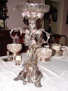 Silver 3 basket Epergne