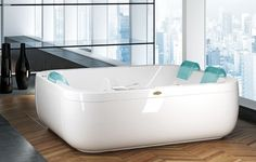 Sleek and welcoming, the new Aquasoul Extra is an indulgent extra wide bathtub from Jacuzzi. The company Jacuzzi is synonymous with luxury massage jet bathing and this tub is...